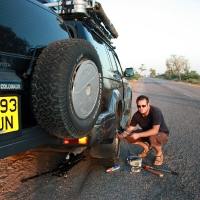 Flat Tyre Road to Hampi